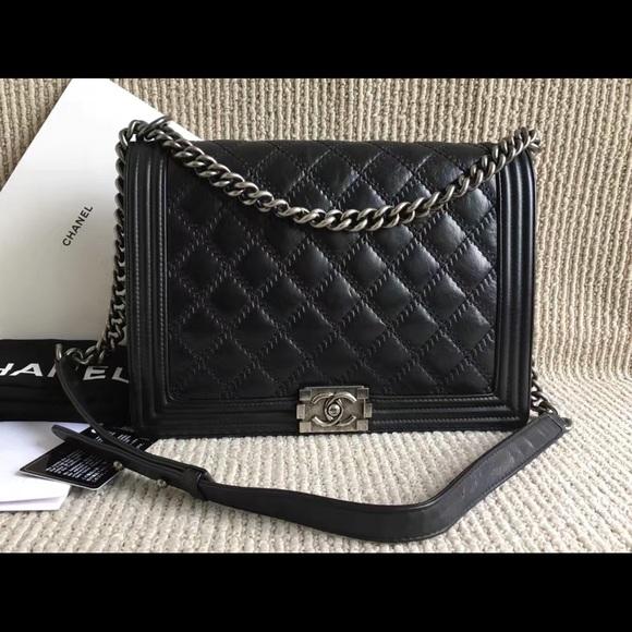673e51df6e39 CHANEL Bags | Large Le Boy Flap Bag | Poshmark
